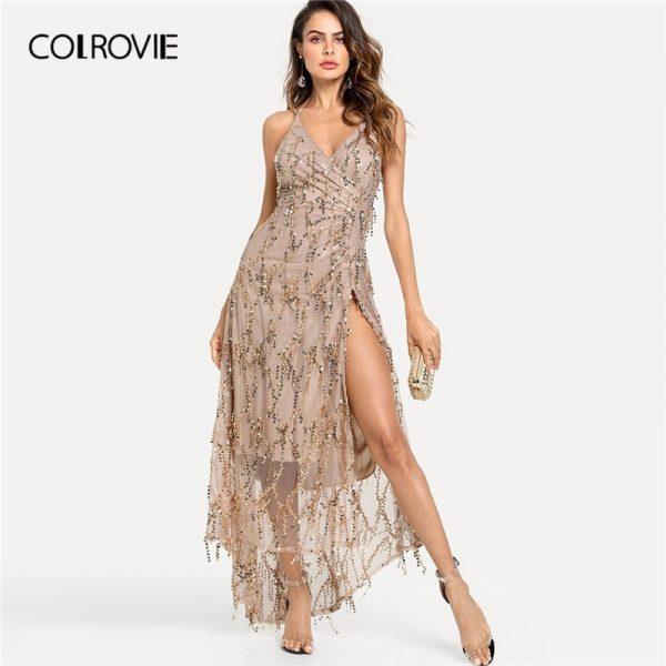 High fashion clothing dress showcase