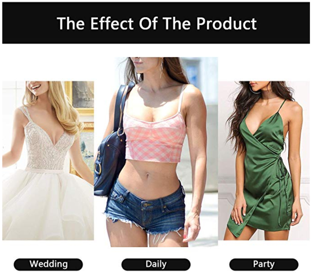 Women's Sticky Strapless Backless Dress Bra Example