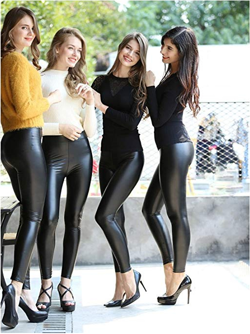 faux leather pants women, black leather pants women,