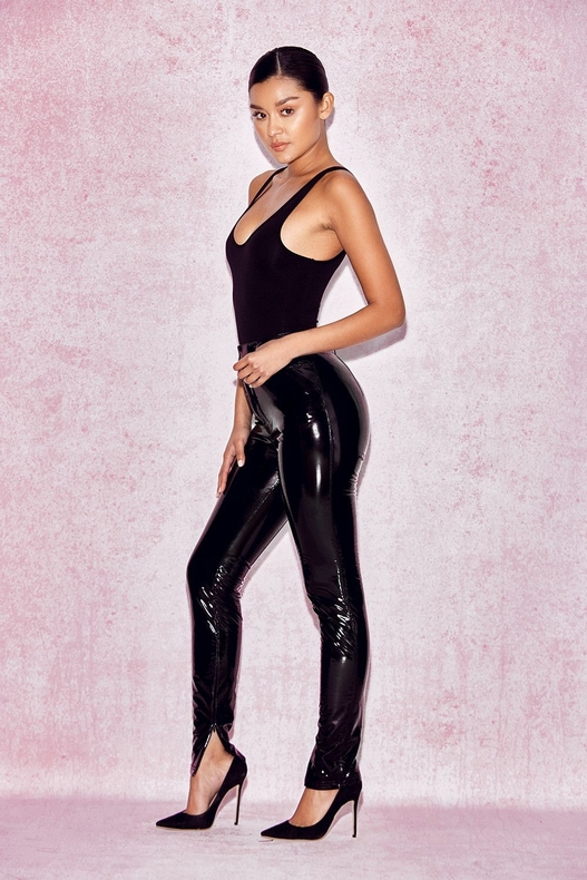 Black leather pants, women's leather pants, ladies leather pants,
